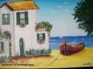 Fischerdorf an der Mittelmeerküste